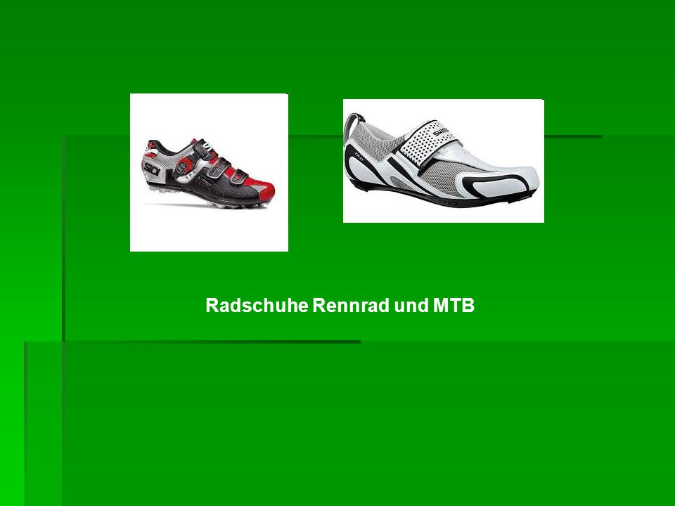 Radschuhe Rennrad und MTB