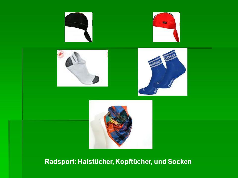 Radsport: Halstücher, Kopftücher, und Socken