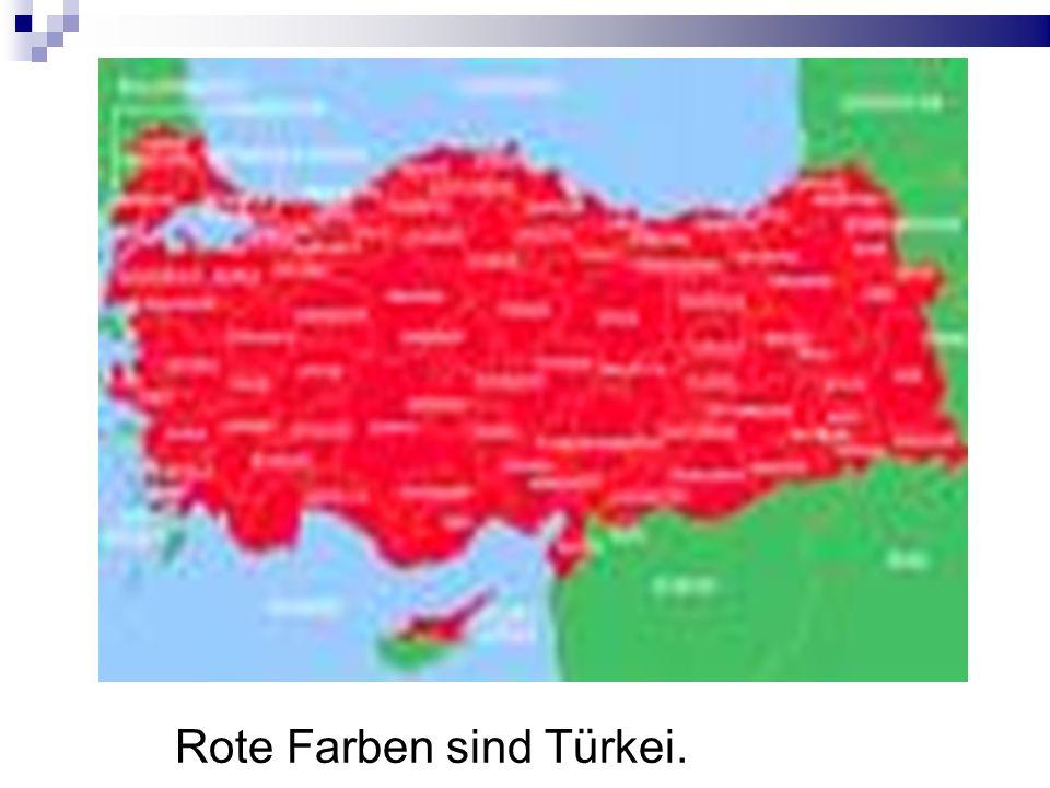 Rote Farben sind Türkei.
