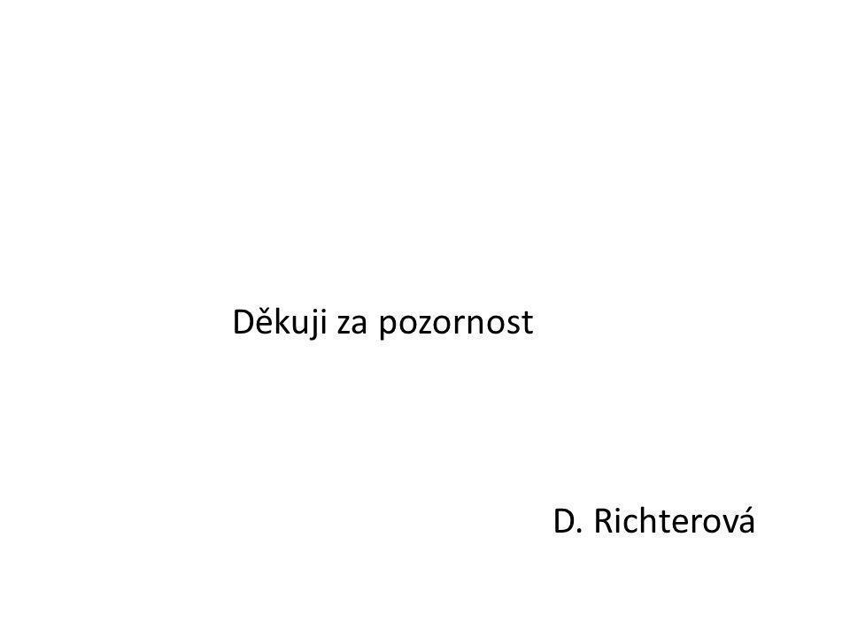 Děkuji za pozornost D. Richterová