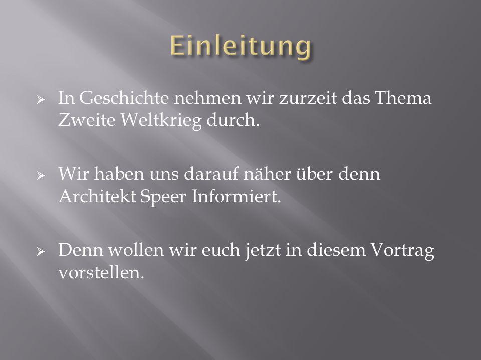  Voller Name: Berthold Konrad Hermann Albert Speer  Geb.