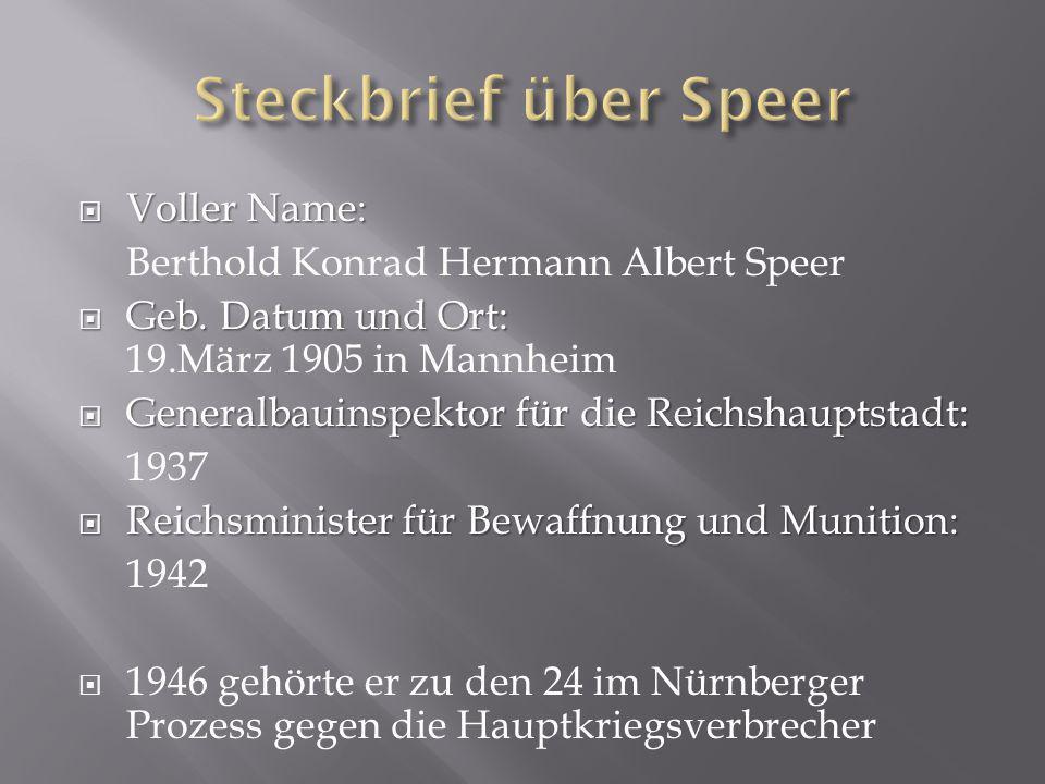  1944 Speer erkrankt schwer und kann über das Frühjahr sein Amt nicht ausüben.