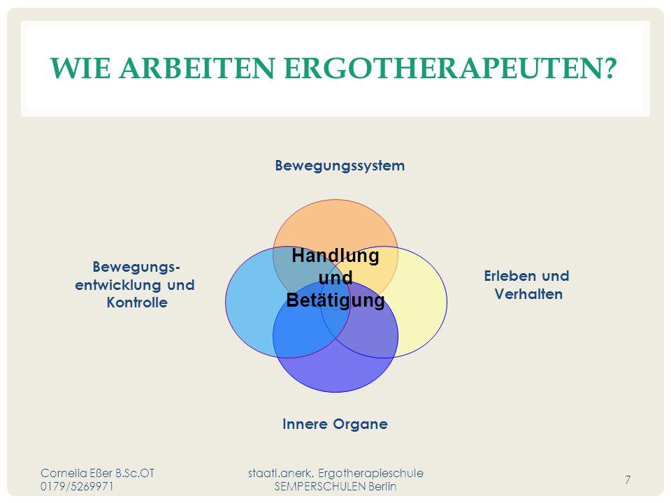 WIE ARBEITEN ERGOTHERAPEUTEN.Cornelia Eßer B.Sc.OT 0179/5269971 staatl.anerk.