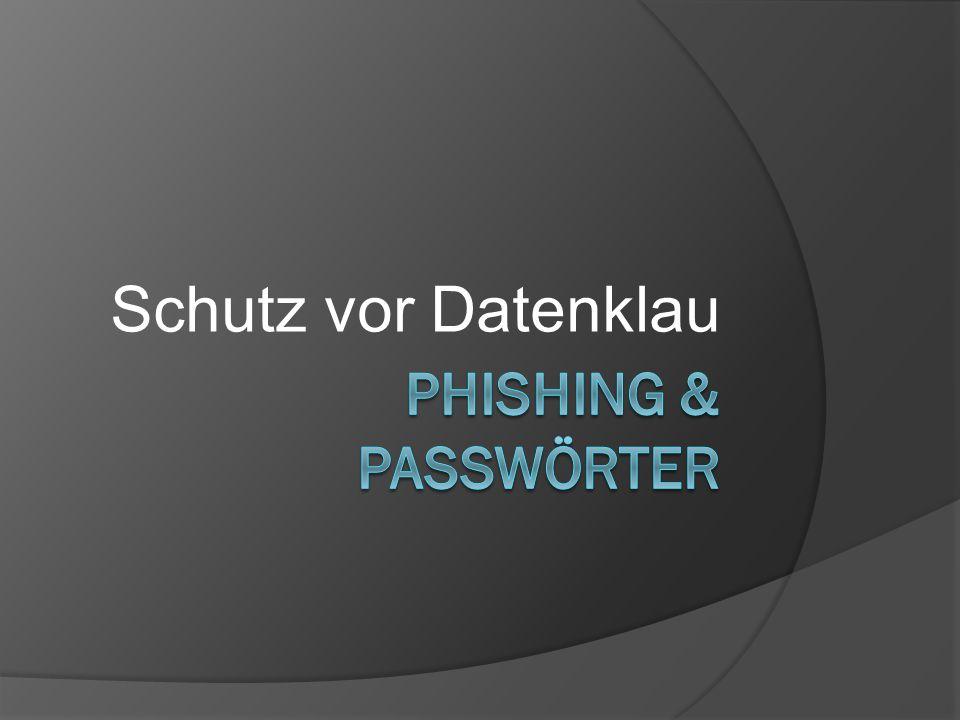 Schutz vor Datenklau