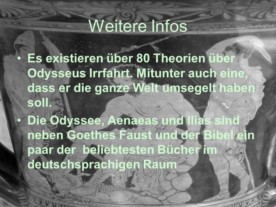 Weitere Infos Es existieren über 80 Theorien über Odysseus Irrfahrt. Mitunter auch eine, dass er die ganze Welt umsegelt haben soll. Die Odyssee, Aena