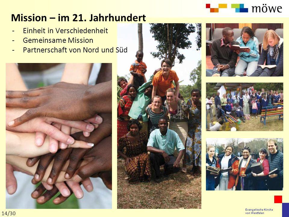 Evangelische Kirche von Westfalen -Einheit in Verschiedenheit -Gemeinsame Mission -Partnerschaft von Nord und Süd Mission – im 21. Jahrhundert 14/30