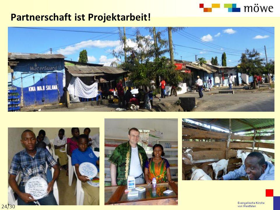 Evangelische Kirche von Westfalen Partnerschaft ist Projektarbeit! 24/30