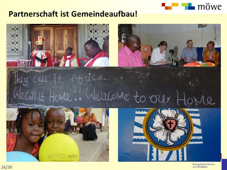 Evangelische Kirche von Westfalen Partnerschaft ist Gemeindeaufbau! 26/30