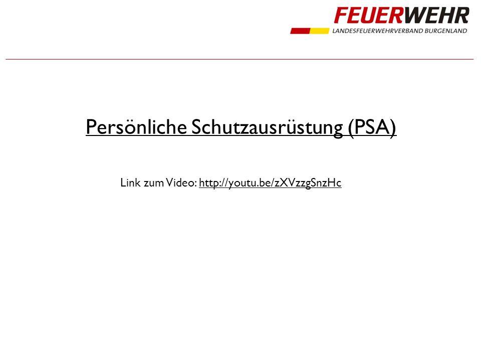Persönliche Schutzausrüstung (PSA) Link zum Video: http://youtu.be/zXVzzgSnzHchttp://youtu.be/zXVzzgSnzHc