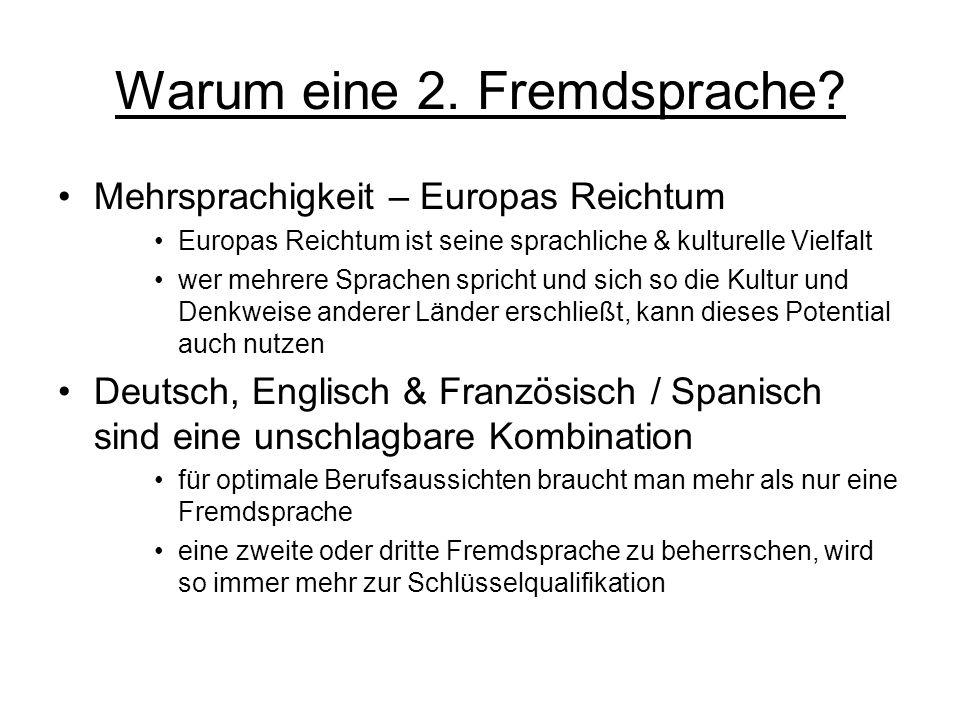 Warum eine 2.Fremdsprache.
