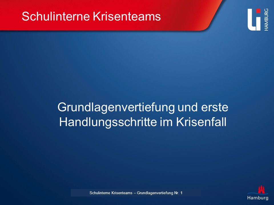 LI: Vorname Name Schulinterne Krisenteams – Grundlagenvertiefung Nr.