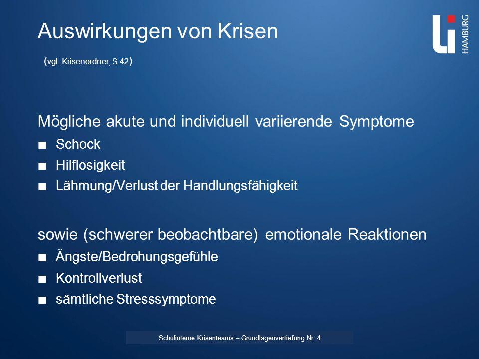 LI: Vorname Name Fürsorge Medizinische Erstversorgung ggf.