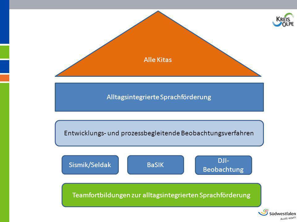 Alltagsintegrierte Sprachförderung Alle Kitas Entwicklungs- und prozessbegleitende Beobachtungsverfahren Sismik/SeldakBaSIK DJI- Beobachtung Teamfortb