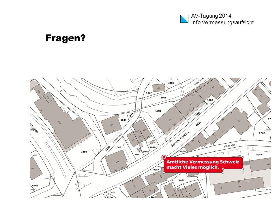 AV-Tagung 2014 Info Vermessungsaufsicht Fragen?