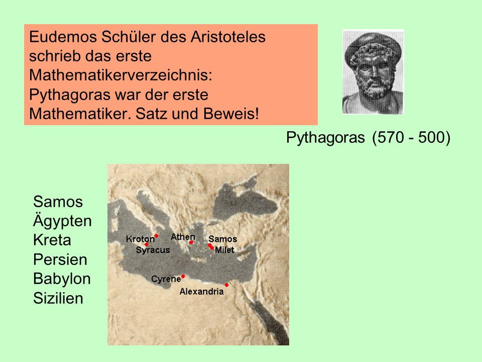 Gründer einer bis  370 v.Chr.