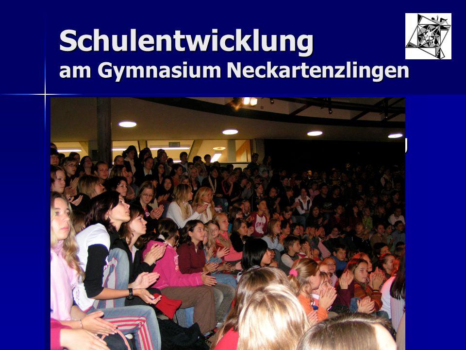 """Schulentwicklung am Gymnasium Neckartenzlingen Arbeitsgruppe Schulentwicklung Arbeitsgruppe Schulentwicklung  Leitsatz: Wir wollen eine """"kommunikative, konfliktfähige Schule Juni 1998"""
