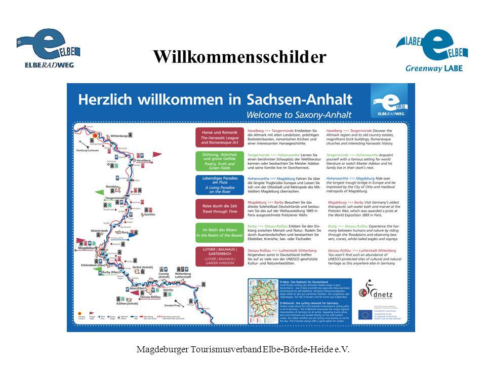 Willkommensschilder Magdeburger Tourismusverband Elbe-Börde-Heide e.V.