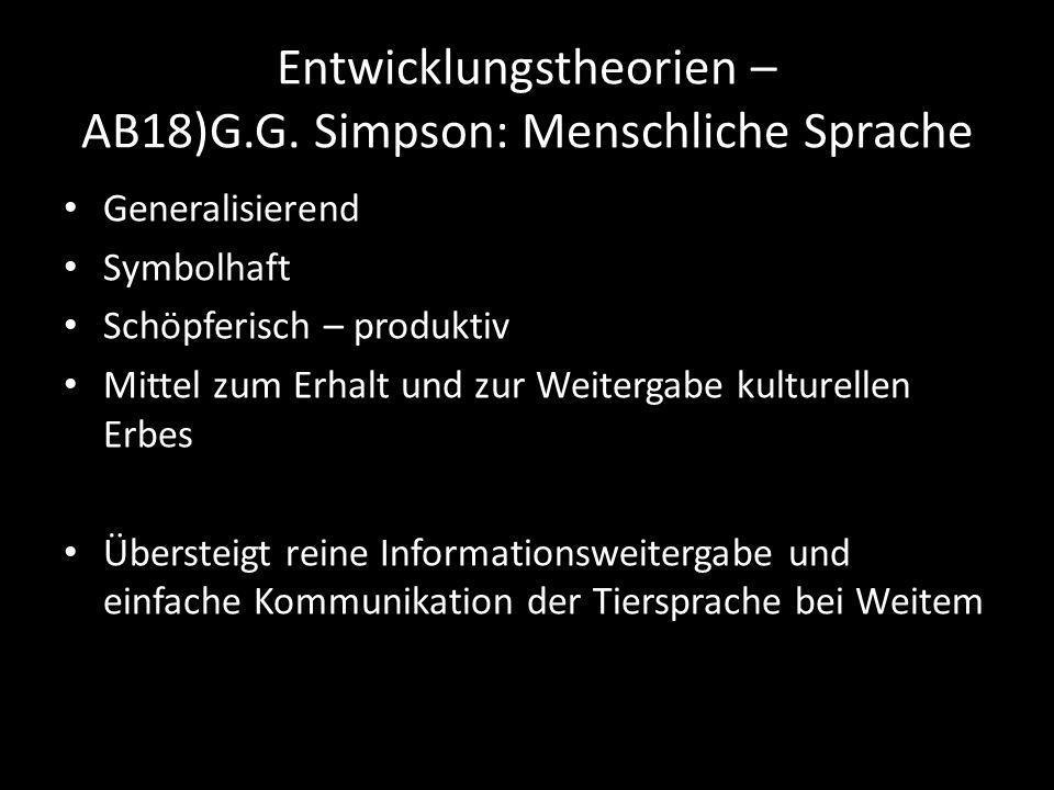 Entwicklungstheorien – AB18)G.G.
