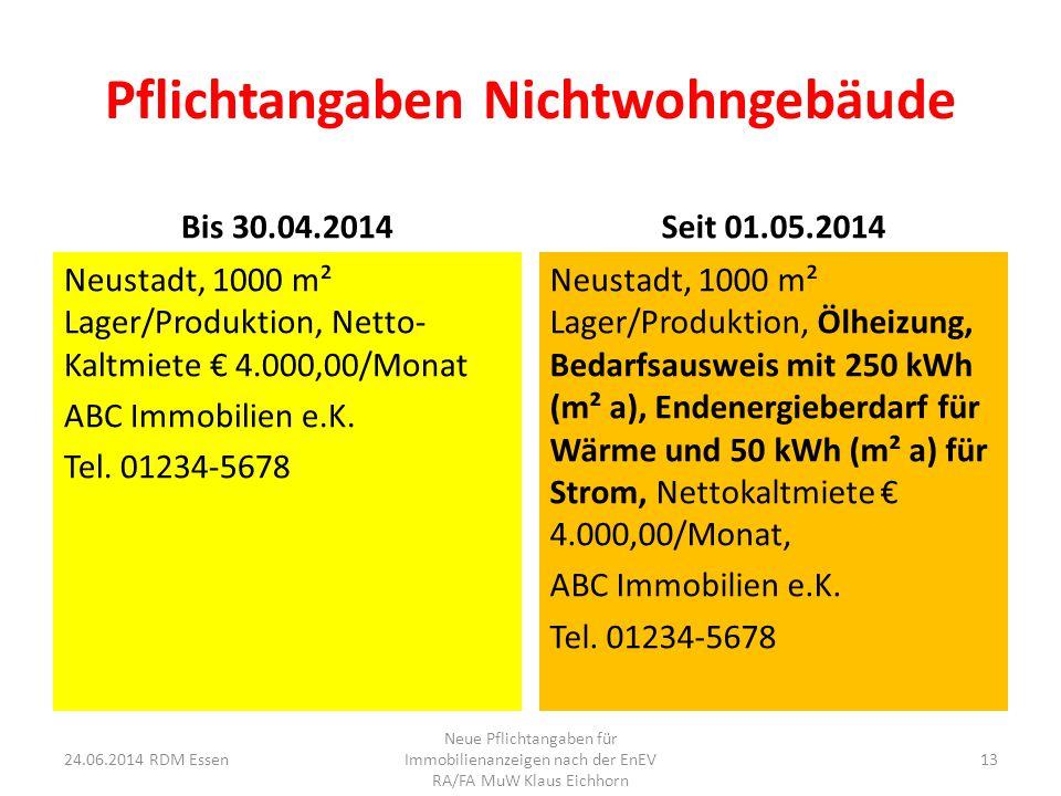 Pflichtangaben Nichtwohngebäude Bis 30.04.2014 Neustadt, 1000 m² Lager/Produktion, Netto- Kaltmiete € 4.000,00/Monat ABC Immobilien e.K. Tel. 01234-56