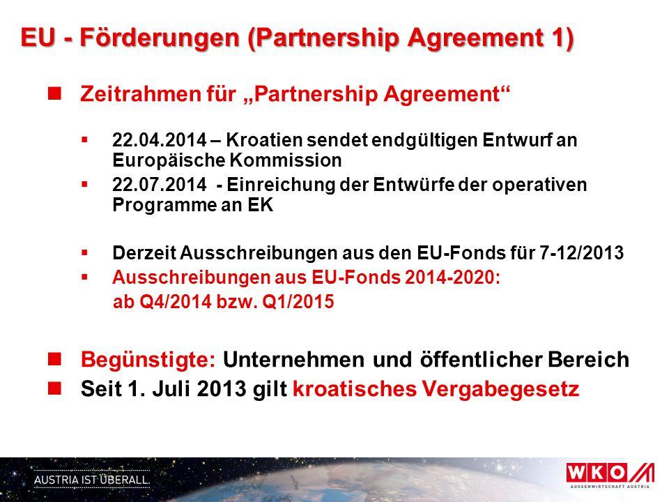 EU - Förderungen (Partnership Agreement 2) Förderschwerpunkte (gem.