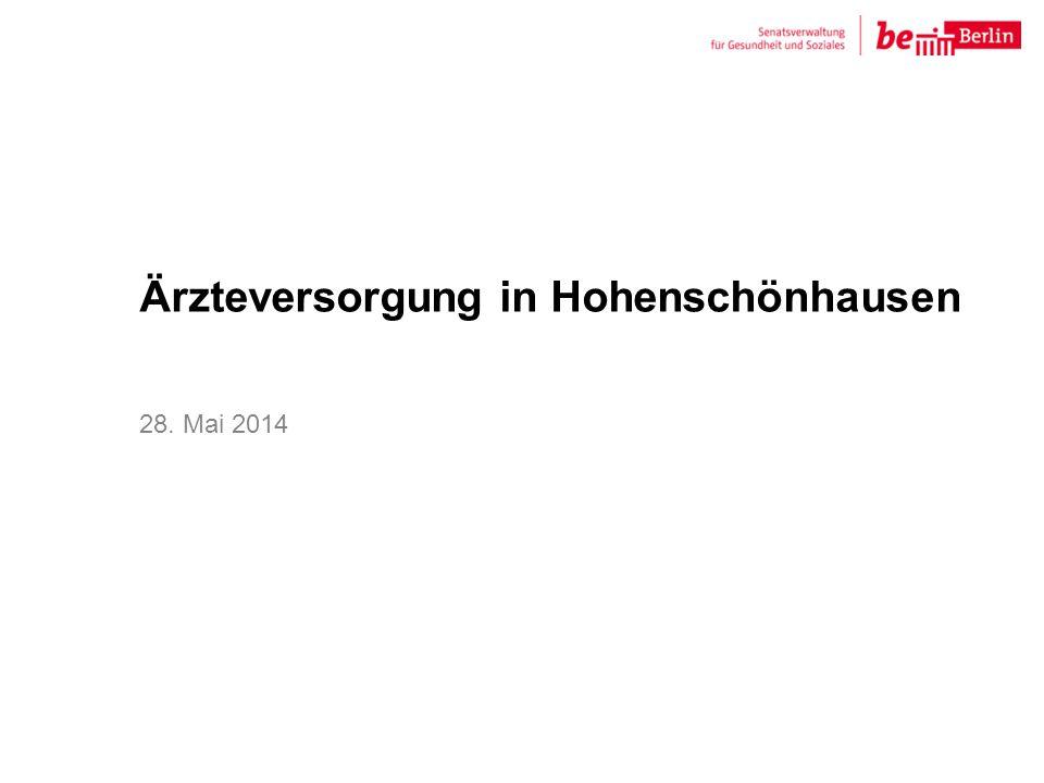 Ärzteversorgung in Hohenschönhausen 28. Mai 2014