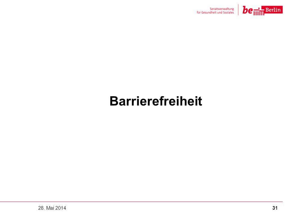Barrierefreiheit 28. Mai 201431