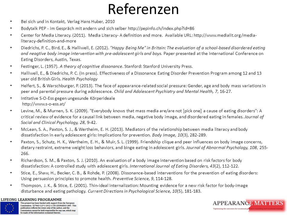 Referenzen Bei sich und in Kontakt, Verlag Hans Huber, 2010 Bodytalk PEP - im Gespräch mit andern und sich selber http://pepinfo.ch/index.php?id=86 Ce