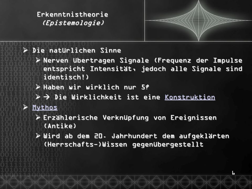17Wissenschaftstheorie  Kopernikanische Wende (15./16.