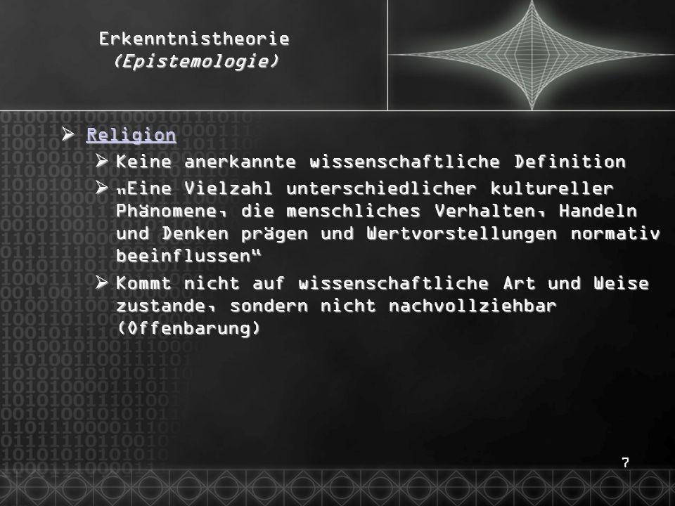 38Wissenschaftstheorie  Sinn und Unsinn der Statistik  Stichprobe  Sollte problemadäquat (z.B.