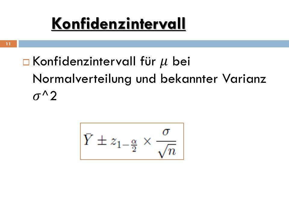 Konfidenzintervall 11