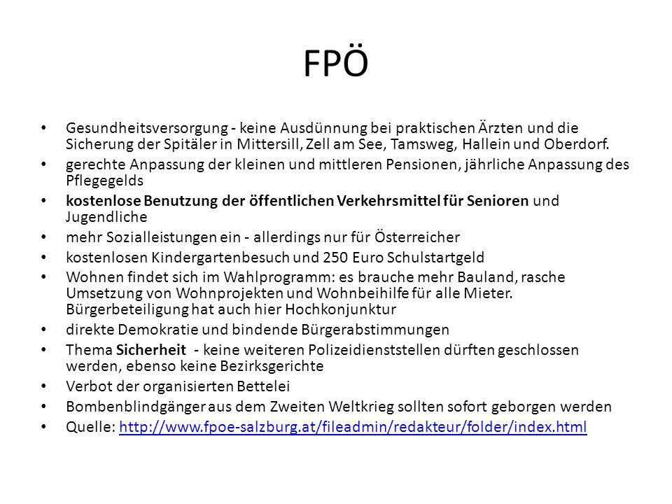 FPÖ Gesundheitsversorgung - keine Ausdünnung bei praktischen Ärzten und die Sicherung der Spitäler in Mittersill, Zell am See, Tamsweg, Hallein und Oberdorf.
