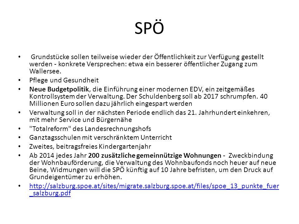 SPÖ Grundstücke sollen teilweise wieder der Öffentlichkeit zur Verfügung gestellt werden - konkrete Versprechen: etwa ein besserer öffentlicher Zugang zum Wallersee.