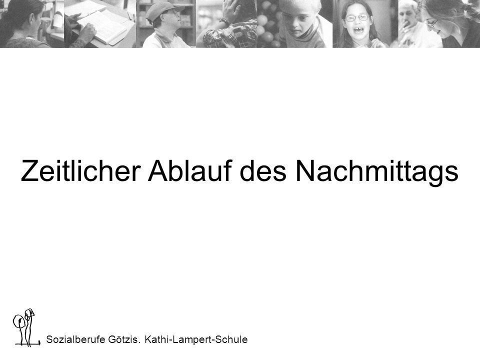 Sozialberufe Götzis. Kathi-Lampert-Schule Zeitlicher Ablauf des Nachmittags