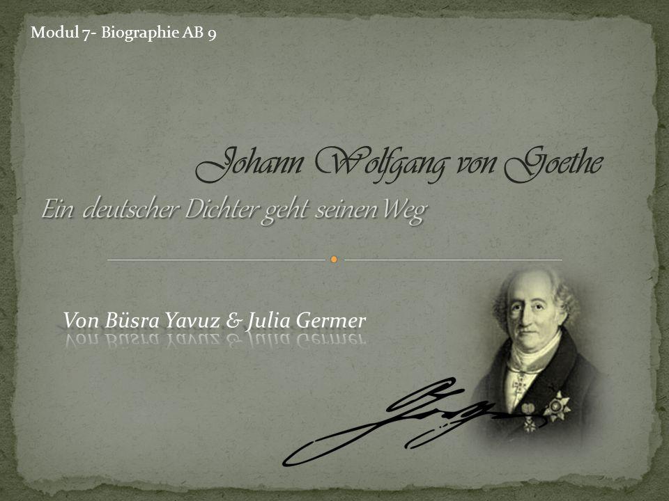 geboren am 28.August 1749 in Frankfurt a. M.