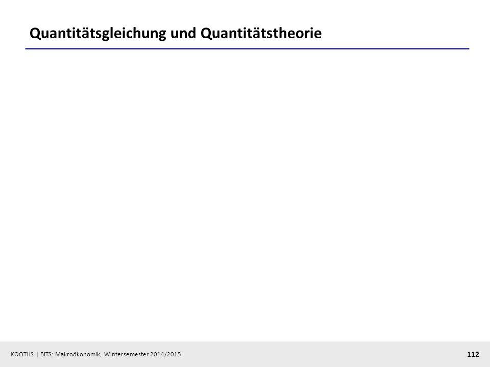 KOOTHS   BiTS: Makroökonomik, Wintersemester 2014/2015 113 Neutralität des Geldes?: Hubschrauber-Geld vs.