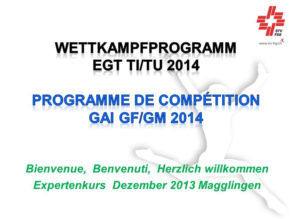 Bienvenue, Benvenuti, Herzlich willkommen Expertenkurs Dezember 2013 Magglingen
