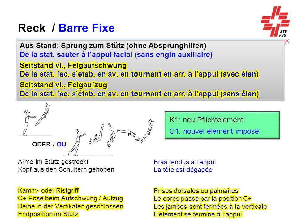 Reck / Barre Fixe ODER / OU