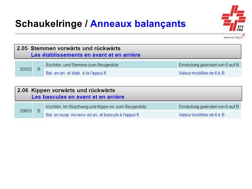 Schaukelringe / Anneaux balançants 20502B Rschkln.