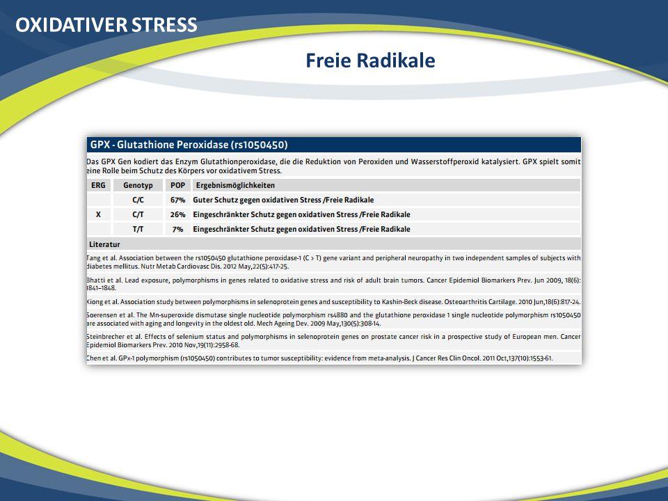 OXIDATIVER STRESS Freie Radikale