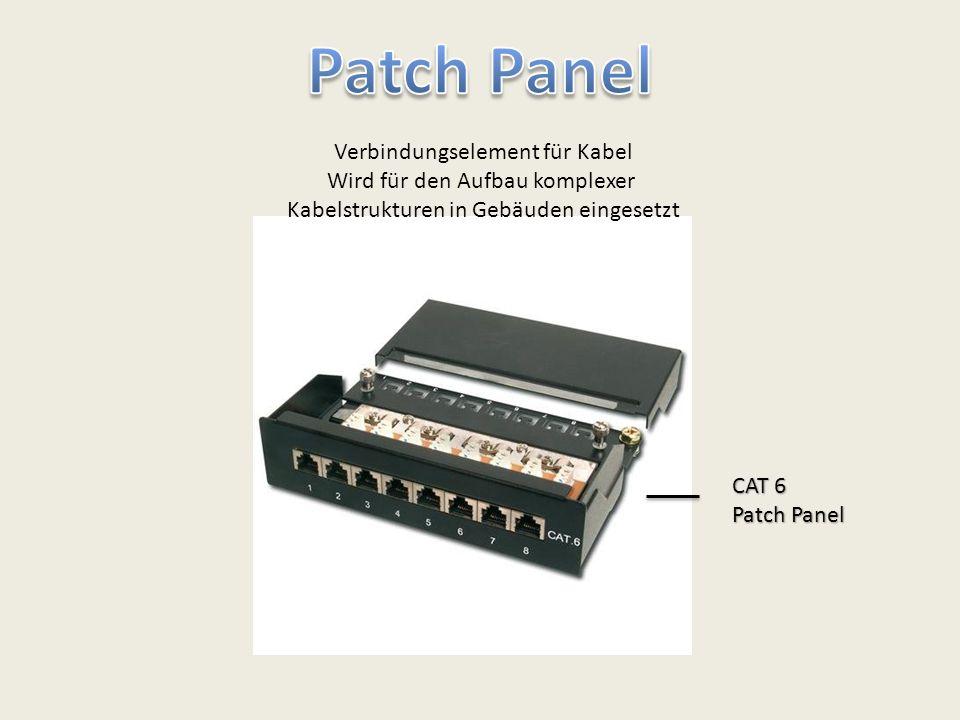 Verbindungselement für Kabel Wird für den Aufbau komplexer Kabelstrukturen in Gebäuden eingesetzt CAT 6 Patch Panel