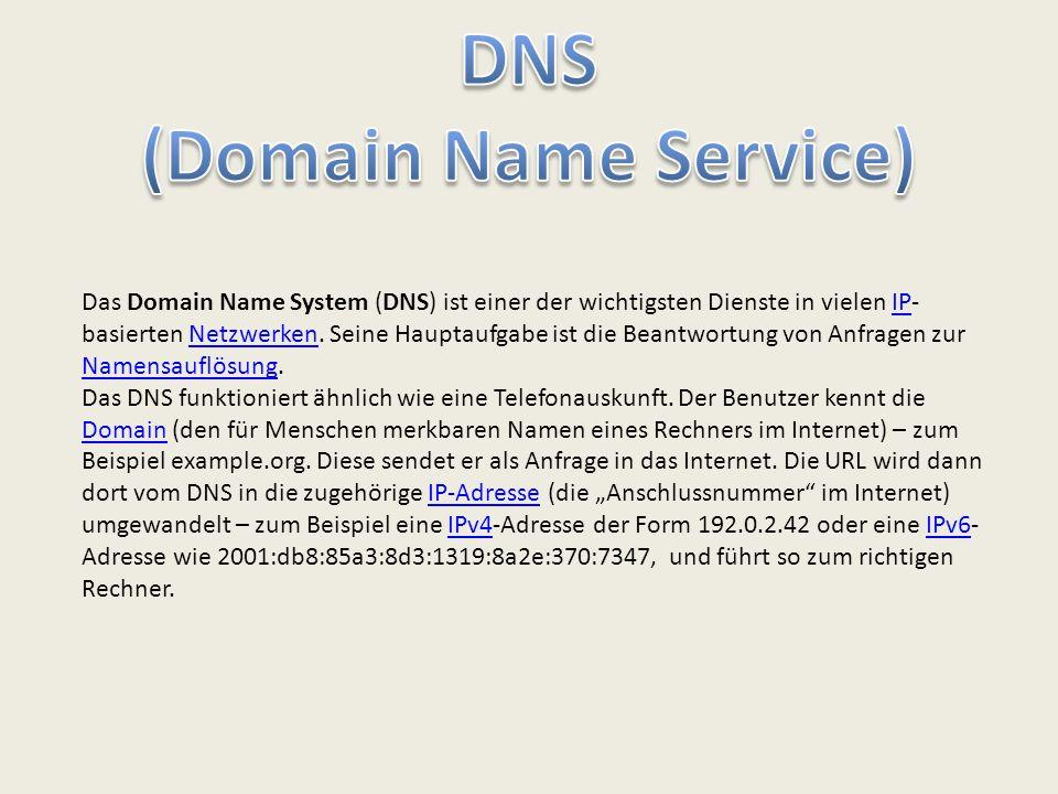 Das Domain Name System (DNS) ist einer der wichtigsten Dienste in vielen IP- basierten Netzwerken. Seine Hauptaufgabe ist die Beantwortung von Anfrage