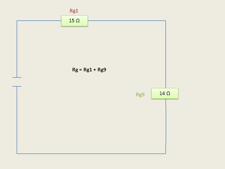 15 Ω 14 Ω Rg1 Rg9 Rg = Rg1 + Rg9
