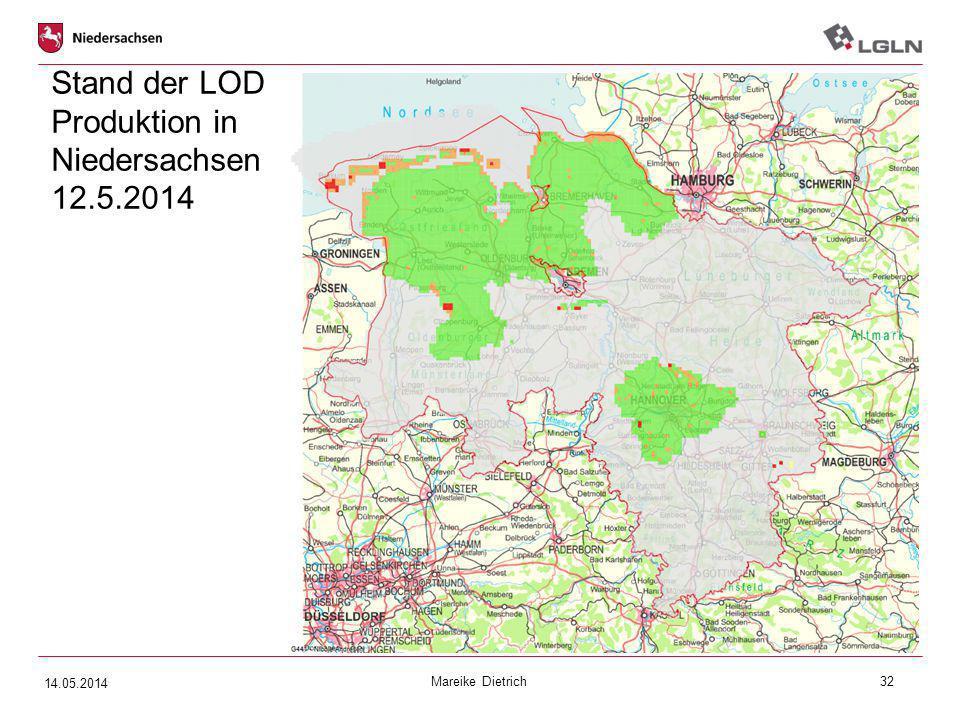 Mareike Dietrich32 Stand der LOD Produktion in Niedersachsen 12.5.2014 14.05.2014