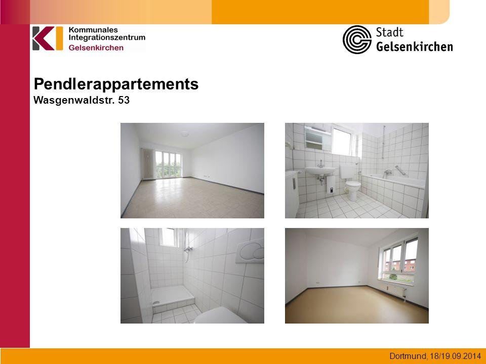Dortmund, 18/19.09.2014 Pendlerappartements Wasgenwaldstr. 53