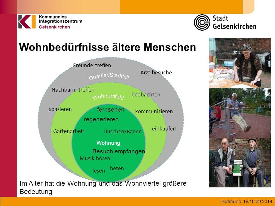 Dortmund, 18/19.09.2014 Wohnung Duschen/Baden Gartenarbeit kommunizieren spazieren einkaufen lesen fernsehen Besuch empfangen Musik hören beten regene