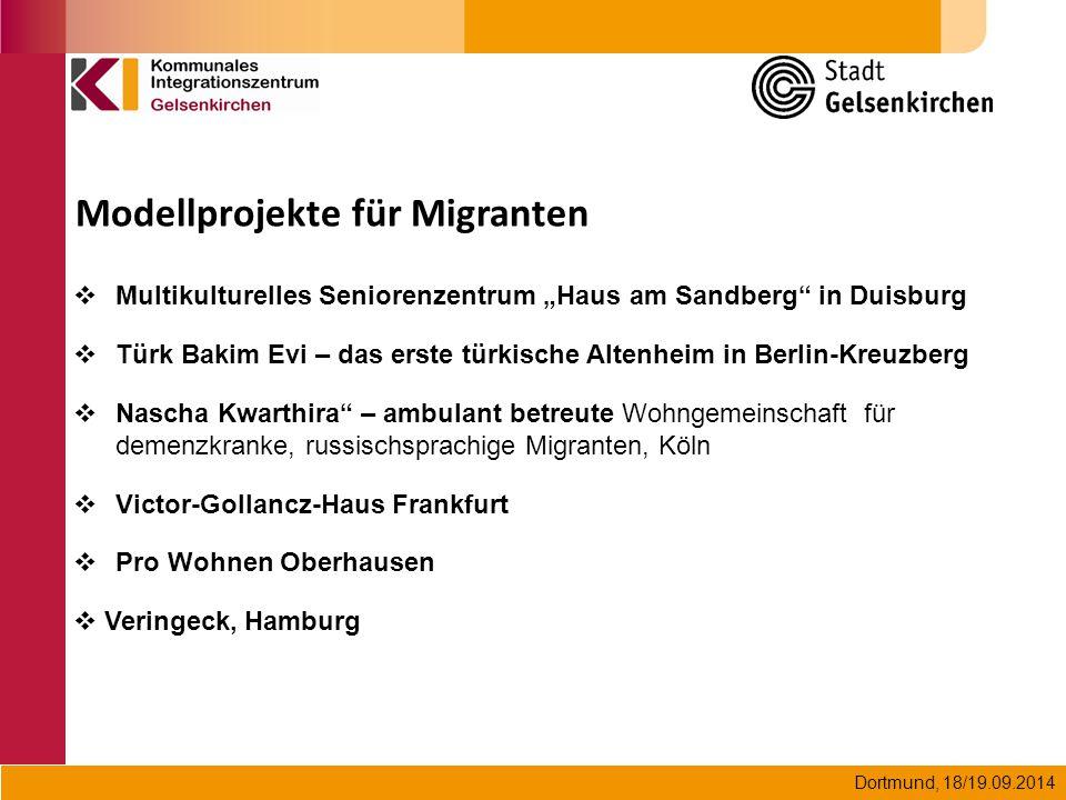 """Dortmund, 18/19.09.2014  Multikulturelles Seniorenzentrum """"Haus am Sandberg"""" in Duisburg  Türk Bakim Evi – das erste türkische Altenheim in Berlin-K"""