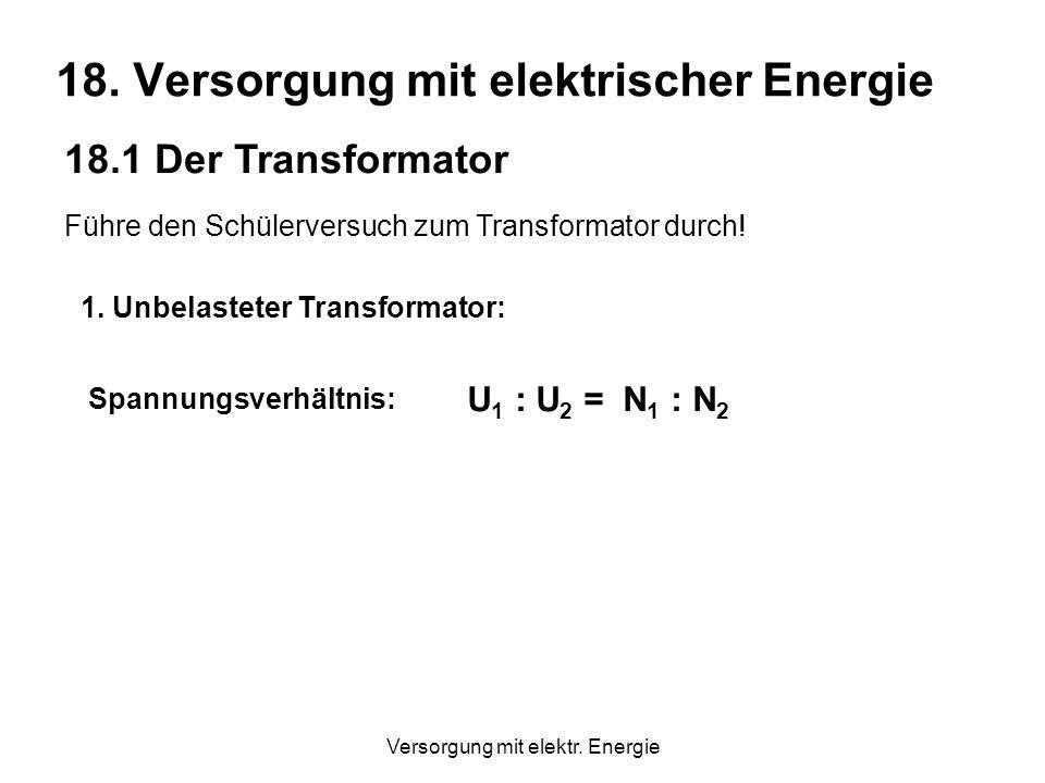 Versorgung mit elektr.Energie 18.