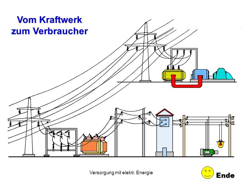 Versorgung mit elektr. Energie 18.4 Stromversorgung. 1.Wie erfolgt der Stromtransport vom Kraftwerk zum Verbraucher? (verschiedene Spannungsebenen) 2.