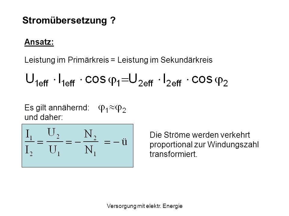 Addiert man die 3 Spannungen (Simulation mit Excel), so sieht man: U 1 + U 2 + U 3 = 0 Werden nun die 3 Phasen gleichmäßig belastet (gleiche Verbraucher), so haben wir in allen 3 Phasen gleiche Phasenwinkel zwischen Spannung und Stromstärke.