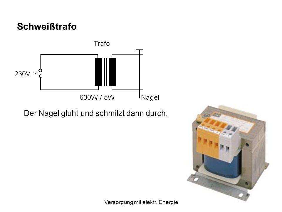 Versorgung mit elektr. Energie Berechne jeweils die Stromstärke, wenn die Leistung gleichbleibt! Spannung UStromstärke ILeistung P=U.I Kraftwerk10 kV1
